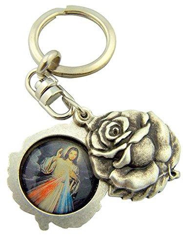 Llavero Divina Misericordia de Jesús Medalla Inmaculado Corazón de María Medalla Divina Misericordia de Jesús.