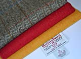 Harris Tweed Stoff 100% reine Schurwolle Craft Bundle (Mix