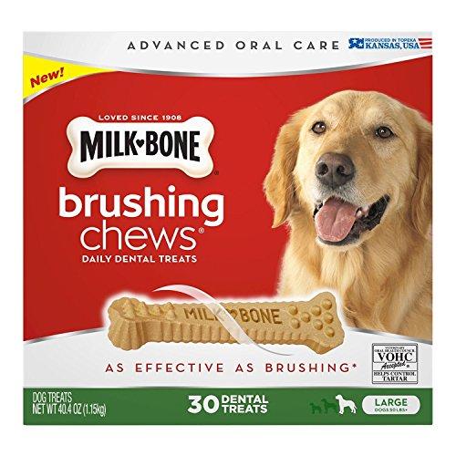 Milk-Bone Brushing Chews Daily Dental Treats, Large (30 ct.) ,40.4 oz...