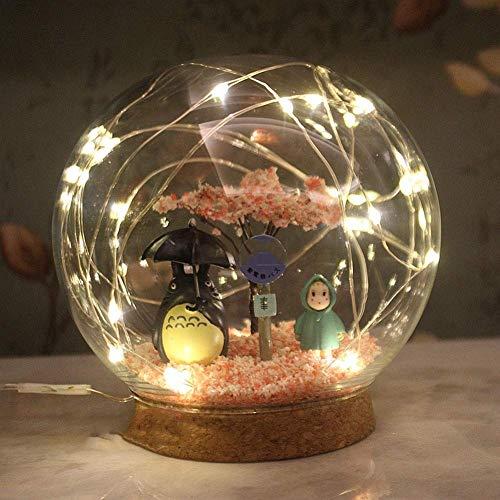 ZSNB Mein Nachbar Totoro Led-Nachtlicht, Studio Ghibli Cartoon Nursery Lampe, Tischlampe for EIN Kind, Anime Craft dekorative Leuchten (2 Optional) (Color : USB)