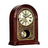 LWLEI Reloj Despertador Musical Madera Maciza Mudo Reloj de