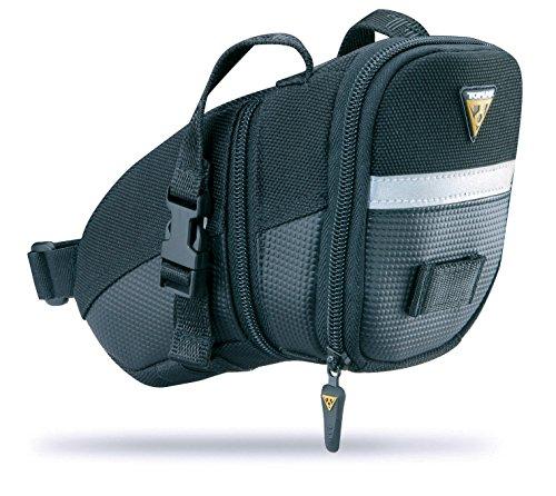 Topeak Satteltasche Mit Befestigungsriemen Aero Wedge Pack, Black, 20 x 11 x 12 cm, 1.31 Liter