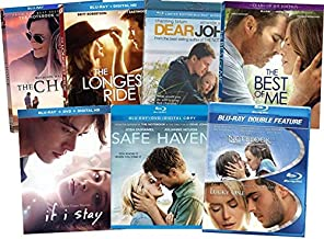 8-Film Movie Romance Collection - The Notebook/ The Lucky One/ The Choice/ The Longest Ride/ The Best of Me/ Dear John/ If I Stay/ Safe Haven (Blu ray Limited Edition Giftset)