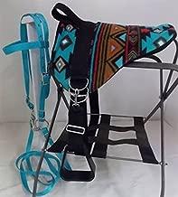 Party Ponies Miniature Horse/SM Pony Bareback Saddle Set Turquoise Southwest