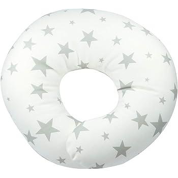 ESMERALDA(エスメラルダ) ドーナツ枕 日本製 ひとつひとつ手作り 赤ちゃん 頭の形が良くなる【まる型】 パールスターグレー