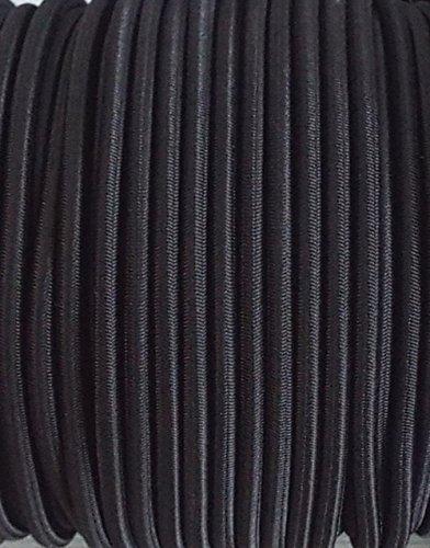 5 m elastische Kordel /Gummikordel schwarz 5 mm