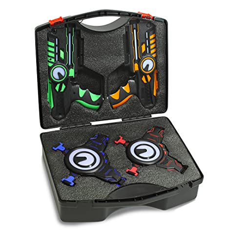 ArmoGear Laser Tag Carrying Case with Handle Laser Tag 4 Pack (Non-Rechargeable Only) | Fits Perfectly 4 Laser Battle Blasters & 4 Vest