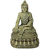 Decoraciones de estatuas de Buda - Adorno de decoración de Buda para Acuario Pecera meditando Estatua de Buda Decoración