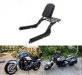 Respaldo Sissy Bar Luggage Rack Leather Pad para Honda Shadow VT750 Spirit 2007-2018 Honda VT750 Shadow Phantom 2010-2019