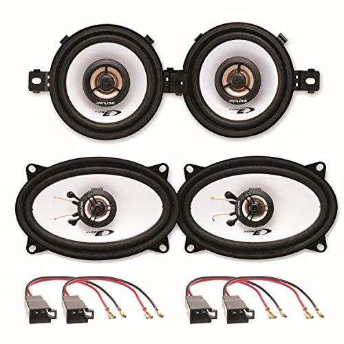Alpine SXE-0825S und SXE-4625S 2 Wege Koaxial Lautsprechersysteme Armaturenbrett seitliche Heckablage passend für Polo 86C Golf 2