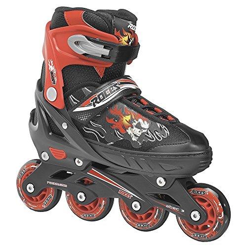 Roces 400808 Men's Model Compy 6.0 Adjustable Inline Skate, US 13jr-2, Black/Red