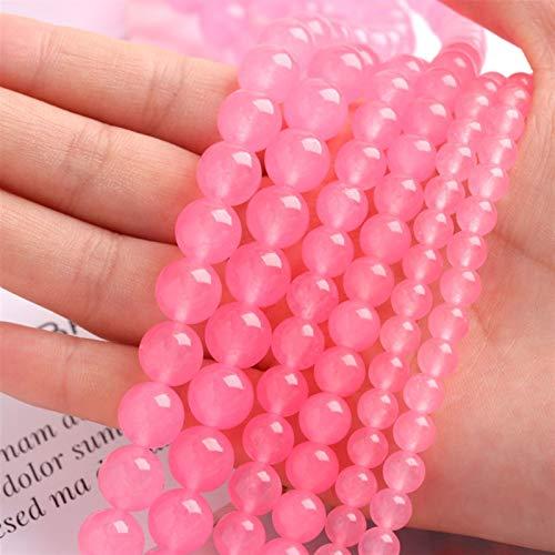 OYZK Perlas espaciadoras de Piedra Natural Rose Rose Rojo Tigre Ojo Suelta Beads para la joyería de Costura DIY Pulsera 15'6/8 / 10mm (Color : 38, Item Diameter : 8mm (Approx 45pcs))