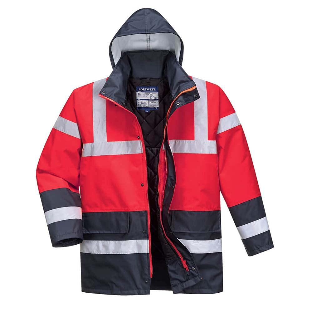 Portwest Workwear Mens Contrast Traffic Jacket ReNa 3 XL