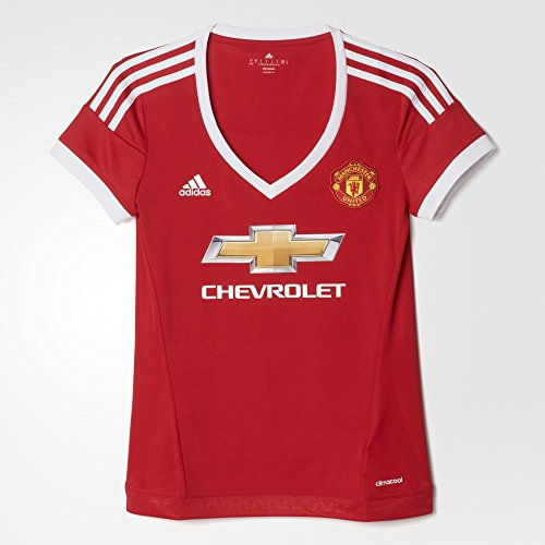 adidas Manchester United FC Home Womens Jersey-REARED (S)