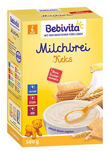 Bebivita Milchbrei Keks, ohne Zuckerzusatz, 500g