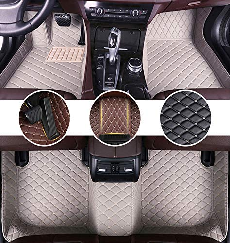 Muchkey Alfombrillas Coche para Audi A1 A3 A4 A4L A5 A6 A6L A7 A8 S3 S5 S6 S7 S8 Q2 Q3 Q5 Q7 TT R8 RS e-Tron Personalizadas Alfombras Tapete Gris