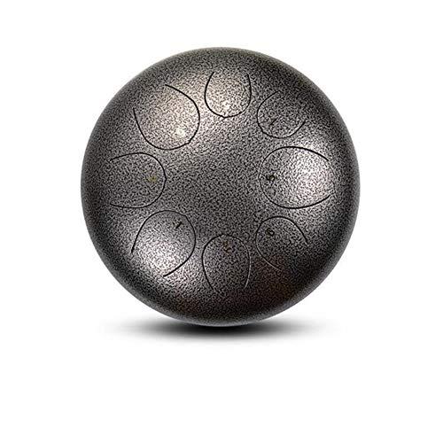 HQQ 10-Zoll-8 Hinweis Mini Drum Stahlzunge, Anfängerhandtrommel, Geeignet for Yoga Meditation Musik