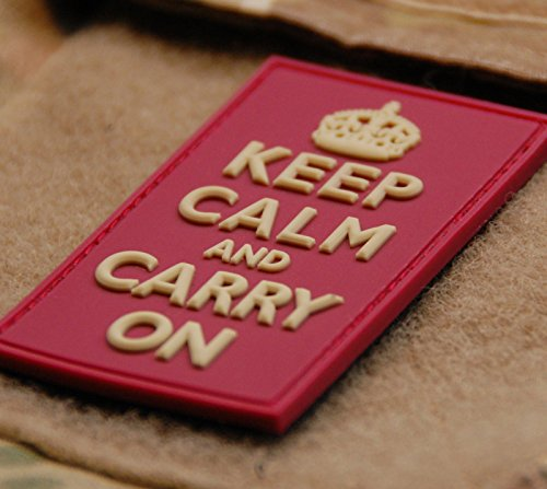 3d PVC Keep Calm and Carry on Morale Patch Navy Seal Afghanistan Uksf British Army by Britkit