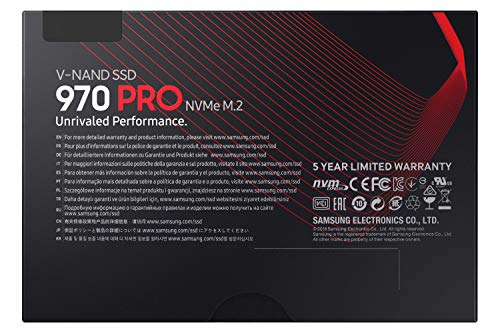 Samsung Memorie MZ-V7P512 970 PRO SSD Interno da 512 GB, NVMe M.2