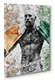 OneCanvas Conor McGregor Irish Pride Canvas Print Poster Photo Wall Art (12x18in.)