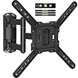 MOUNTUP TV Wall Mounts TV Bracket for Most 26-55 Inches TVs, Full Motion TV Wall Mount with Swivel and Extend 17.7 Inch, TV Mount with Swivel Articulating Arm, Max VESA 400x400mm, MU0009