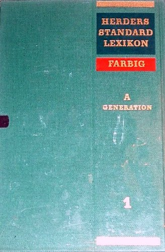 Herders Standard-Lexikon. Bd. 1. A - Generation