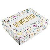 Herz & Heim® Geburtstags Geschenk-Verpackung - 28 cm x 35,5 cm x 10 cm (B/H/T) - mit Ihren Namen...