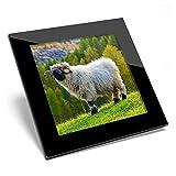 Posavasos de cristal Awesome – Swiss Alps Valais Blacknose Sheep de calidad brillante / protección de mesa para cualquier tipo de mesa #46345
