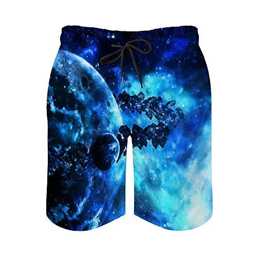 MayBlosom Pantalones cortos de playa para hombre, impresionantes trajes de baño de secado rápido, estilo hawaiano, para fiestas de vacaciones, trajes de baño con elástico