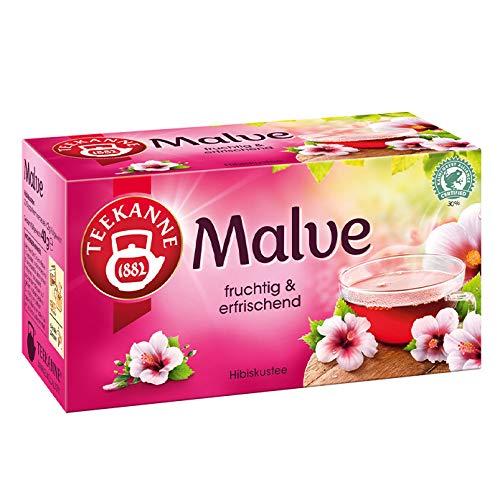 Teekanne Spritzige Malve, Natürlicher Hibiskustee - 20 Teebeutel, 1er Pack