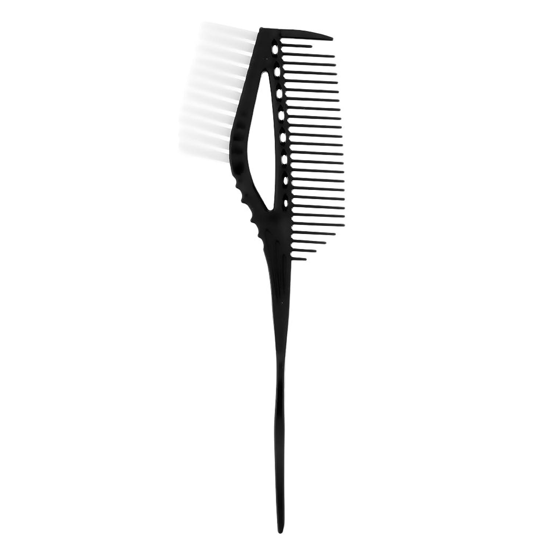 Homyl ハイライト櫛 染め櫛 ヘアブラシ ヘアカラー 色合い ヘアスタイル 便利 3色選べる - ブラック