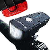 Apace Vision Kit Luz Bicicleta Delantera XPRO-LUME500 Recargable USB - Potente Combo Foco Delantero y Luz Trasera de Bici LED - Luces Delante y Detrás Superbrillantes 500 Lúmenes IPX5 Impermeables