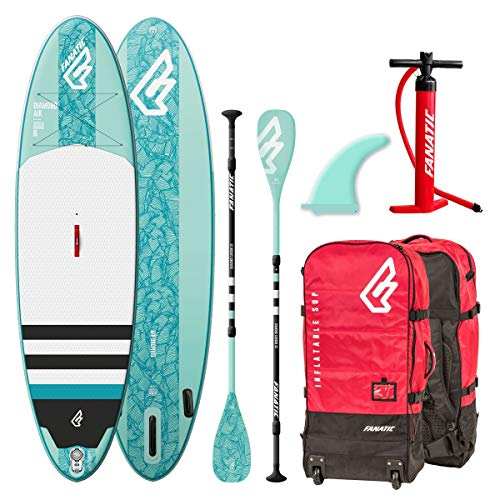 Fanatic Diamond 9.8 Inflatable SUP isup Stand up Paddle Board Komplett Set