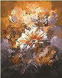 WYTCY Beau Bouquet De Fleurs Bricolage Peinture À l'huile À Colorier par Numéros Numérique Peinture sur Toile Peinte À La Main pour La Décoration 40x50cm