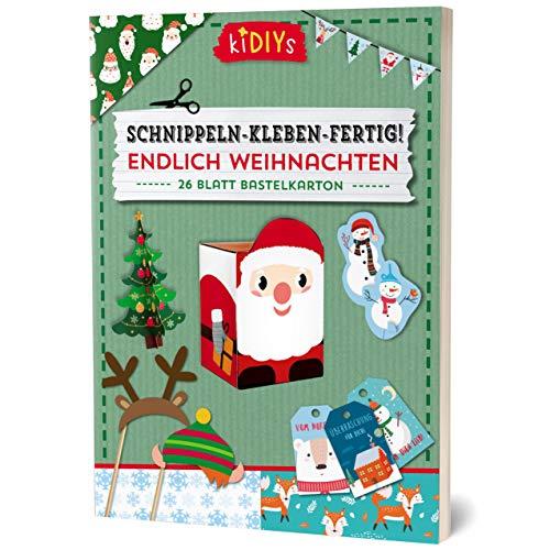 Schnippeln - Kleben - Fertig! Endlich Weihnachten: 26 Blatt Bastelkarton (kiDIYs)