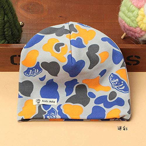 GEEKCOOK Outdoor UV-Schutz Sommer Cap,Baby Baumwolle Kinderhüte Jungen und Mädchen warme Doppelschicht Baumwolle Baby Kopfschmuck-Tarnen_L.