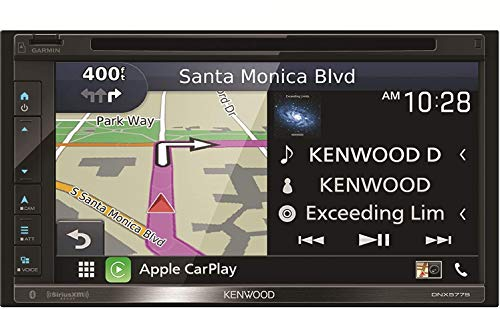 Kenwood DNX577S 6.8' Capacitive Touchscreen DVD Navigation Receiver | Apple...