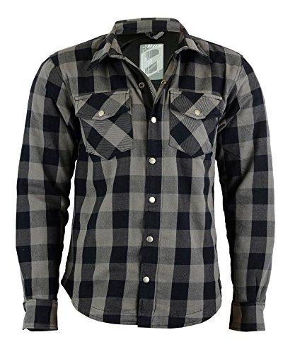 Lumberjack Jacken-Hemd Reißfest, Wasserdicht, Grau/Rot-Schwarz Kariert (XL, GRAU)