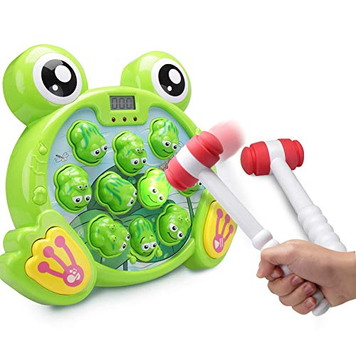 fs-interactive-whack-a-frog-game-durable-pounding-toy-early-developmental-toy-helps-fine-motor-skills-great-gift-for-age-3-4-5-6-7-8-years-old-kids-boys-girls-2-hammers-included