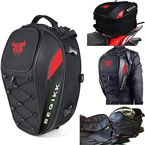Motorcycle Tail Bag Seat Helmet 38L Motorcycle Backpack Waterproof Luggage Bags Waterproof Luggage product image