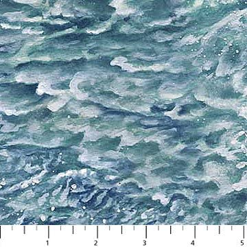 Naturescapes Blue OFFicial Water Splashing Northcott Cotton Popular brand in the world Fabric 21391-