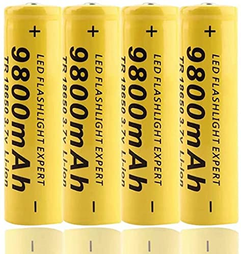 18650 Batería de Litio Recargable de Alta Capacidad 2200 MAH 3.7v Luz Solar Cadena de luz de la batería TV Control Remoto LANDERN Lantern Lantern (4 PCS)