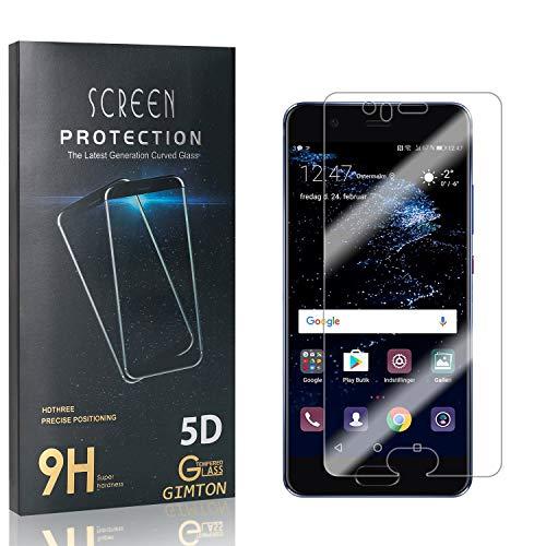 GIMTON Displayschutzfolie für Huawei P10, Ultra Dünn HD Panzerglasfolie mit 3D Touch, 9H Härte Schutzfilm aus Gehärtetem Glas für Huawei P10, 4 Stück