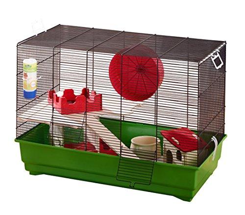 Dehner Wellness roedores Jaula Aprox. 67x 37x 47cm, Color Verde