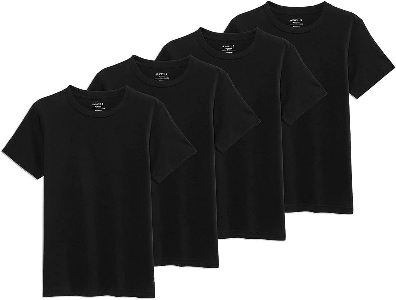 Jockey Boy's T-Shirts Boys 100% Cotton Crew T-Shirt - 4 Pack