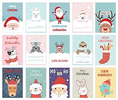 Edition Seidel Set 30 Weihnachtspostkarten (2x15) Weihnachten Karten Postkarten Weihnachtskarten