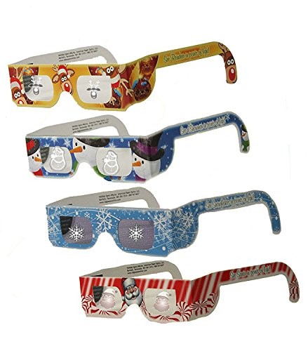 Christmas Glasses for Children - Holiday Eyes (TM) - 6 Pairs - 4 Styles - Snowflake, Snowman, Reindeer and Santa