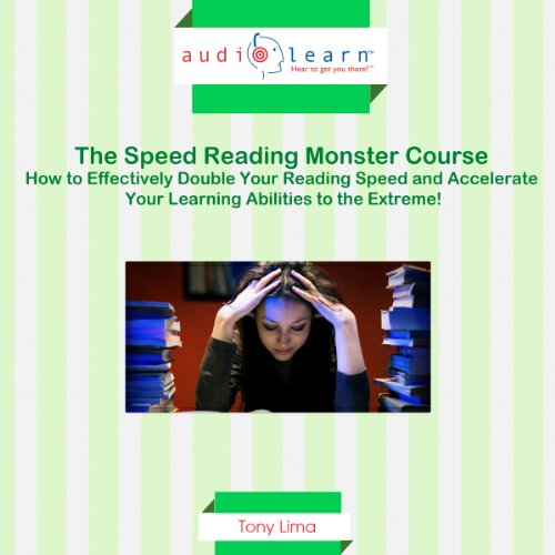 Speed Reading Monster Course audiobook cover art