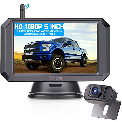 Yakry Y24 HD 1080P Digital Wireless Backup Camera System 5 Inch...