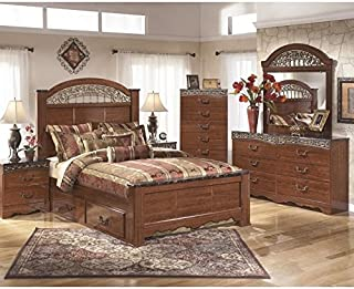 Ashley Furniture Fairbrooks Estates 6 Piece Bedroom Set in Brown